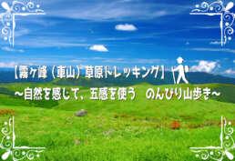 【霧ヶ峰(車山)草原トレッキング】~自然を感じて、五感を使う のんびり山歩き~