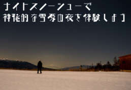 ナイトスノーシューで神秘的な雪原の夜を体験しよう
